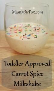 Toddler approved milkshake