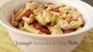 Weeknight Artichoke and Olive Pasta