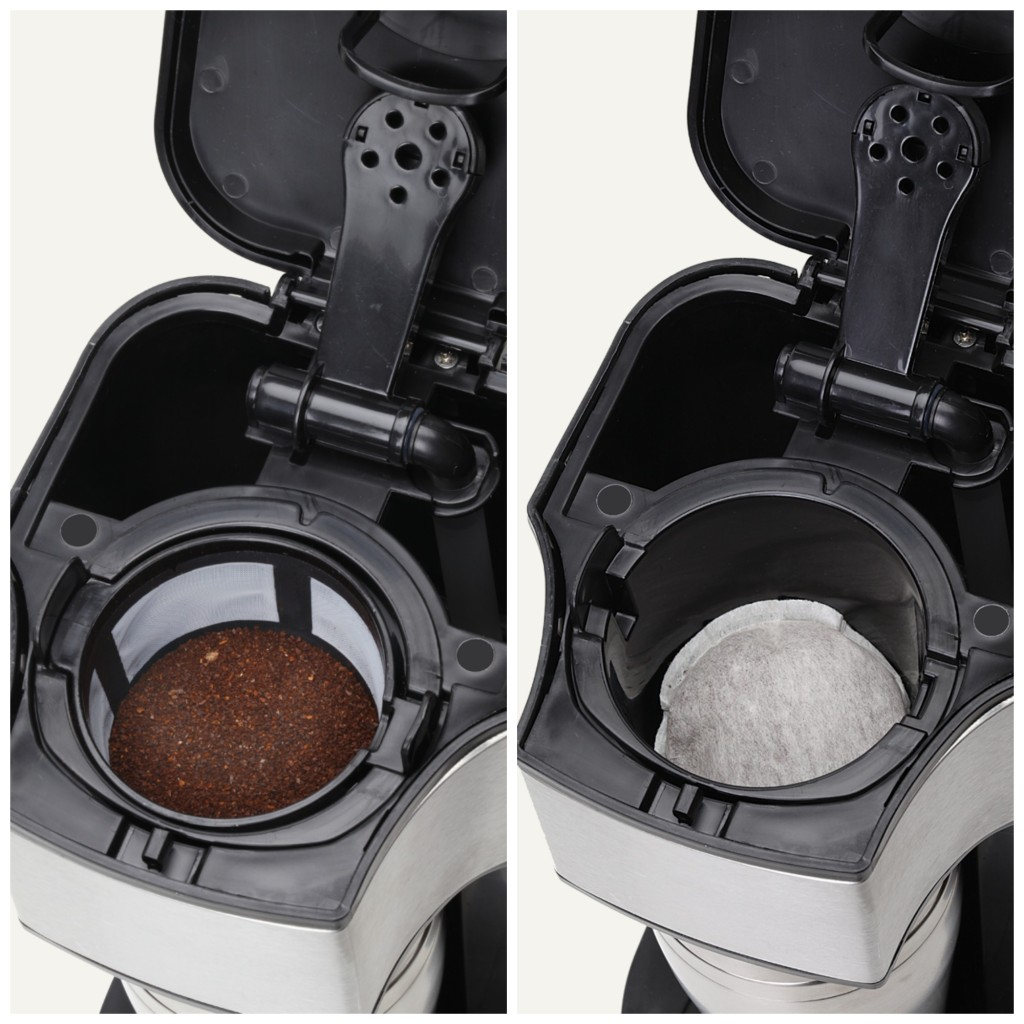 Use loose ground coffee or with soft coffee pods