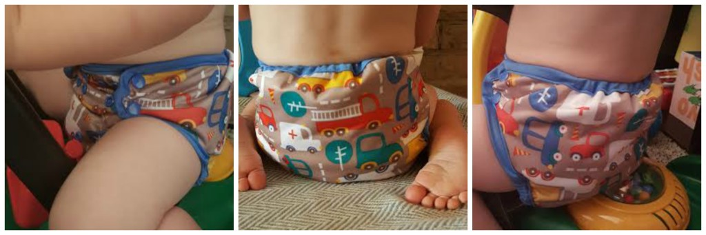 This is a Cloth-eez Workhorse diaper underneath a Blueberry Capri Cover