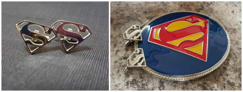 superman cuff links