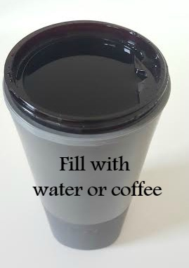 filled with water