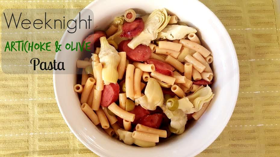 Artichoke and Olive Pasta