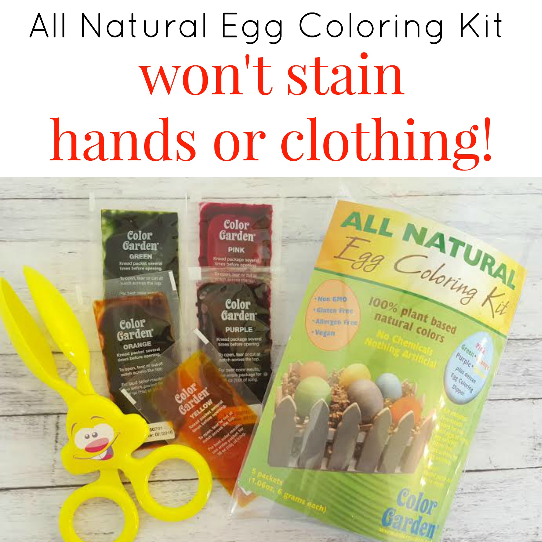 egg coloring wont stain hands or clothing