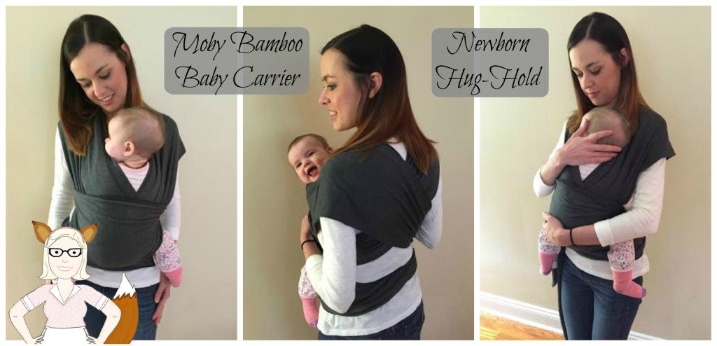 Newborn Hug Hold in a Bamboo Moby Wrap