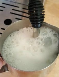 milk frothed