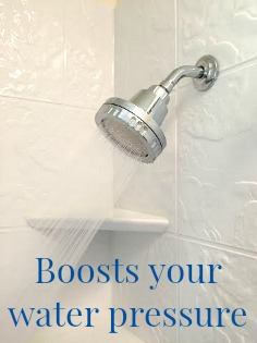 Boosts your water pressure