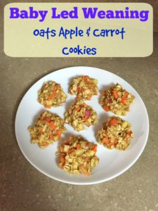 Baby Led Weaning Recipe - Apple Oat Carrot Cookies