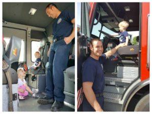 in fire truck
