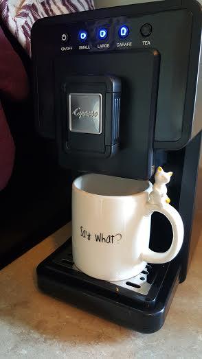 with mug