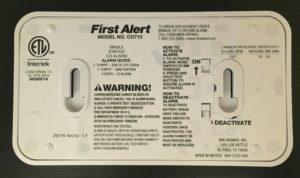 carbon monoxide back