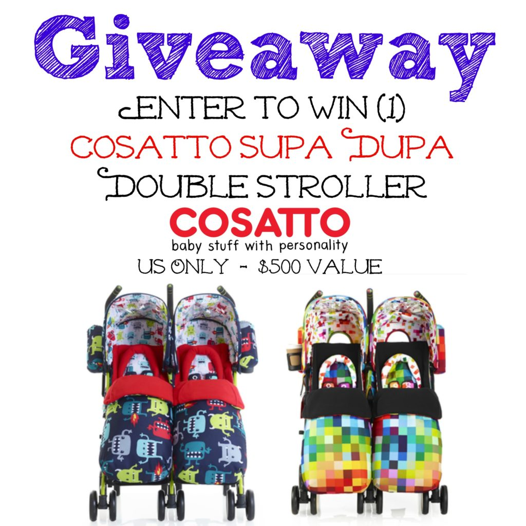Cosatto Supa Dupa Double Stroller Giveaway, Ends 12/7
