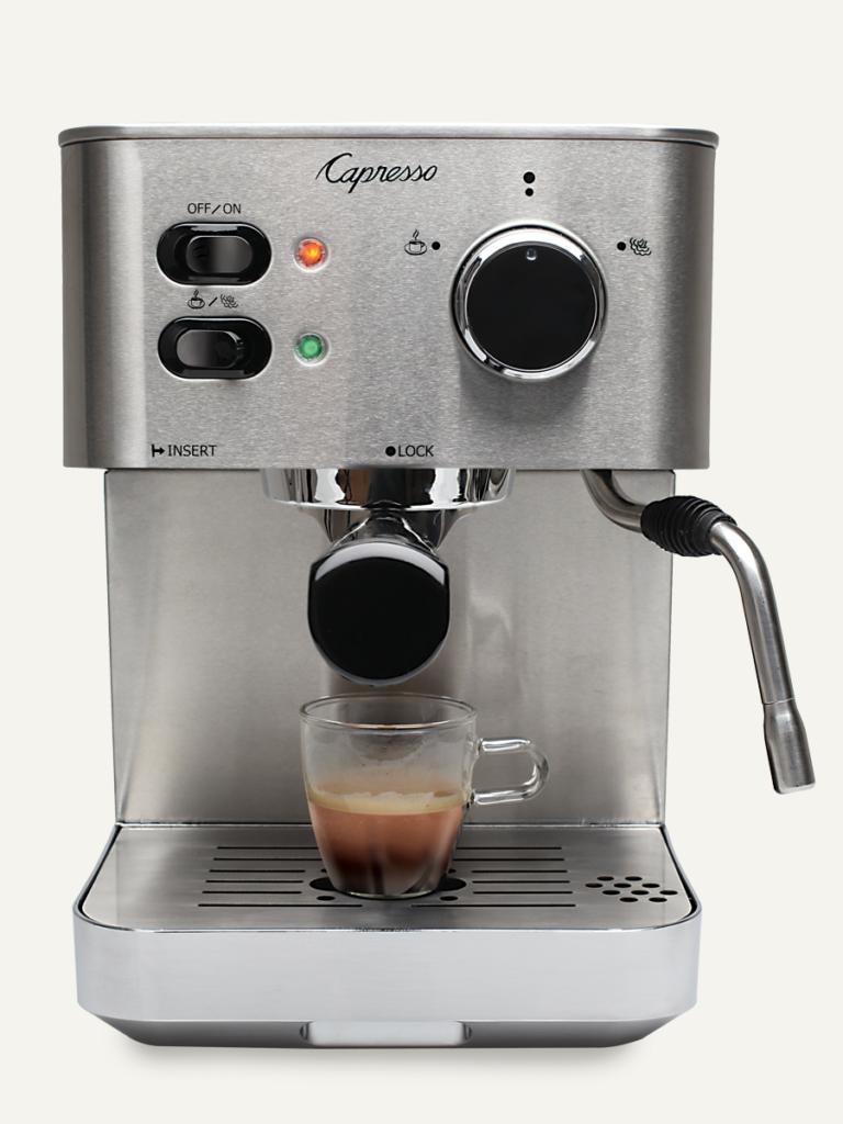 capresso stainless steel espresso cappuccino machine