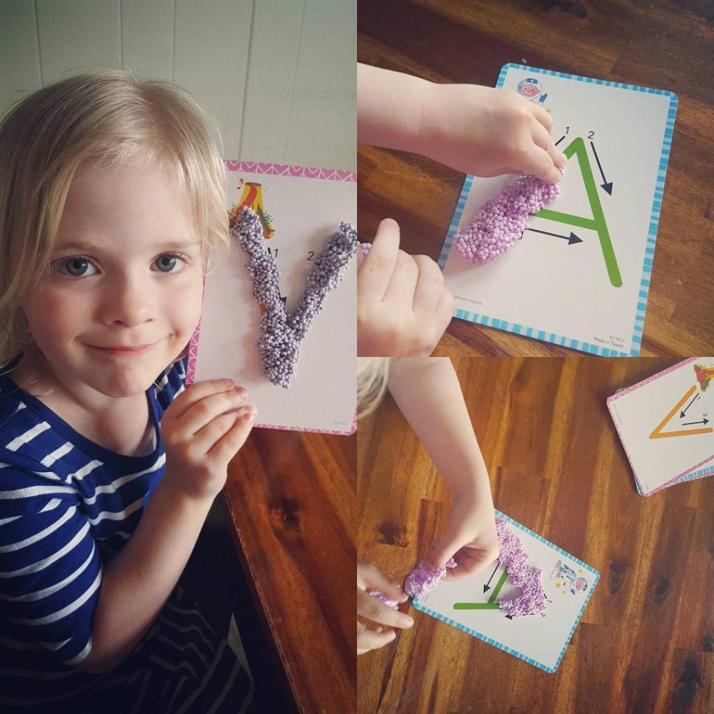 My 4 year old loves working on her finemotorskills withhellip