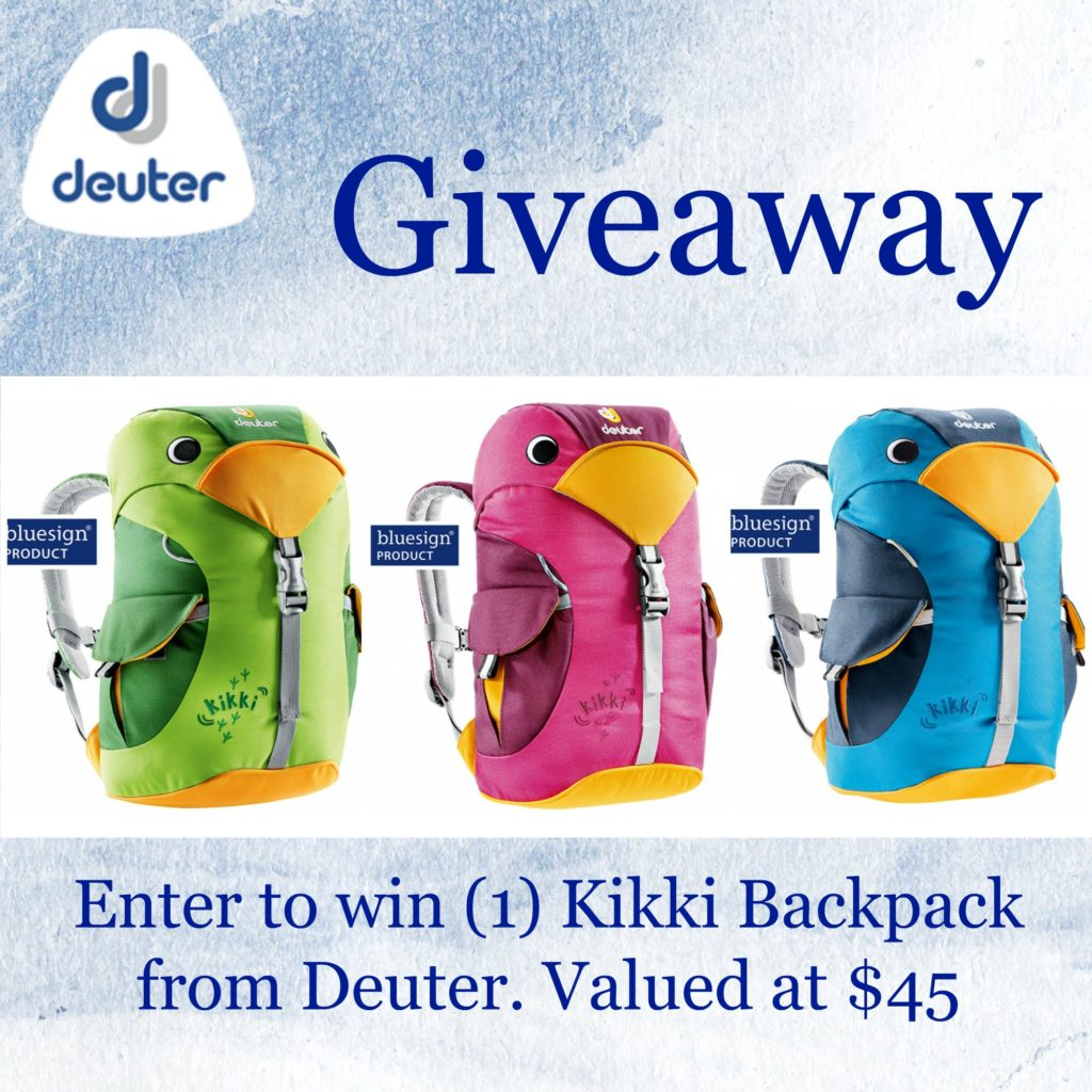 Enter the Kikki Backpack Giveaway. Ends 10/22