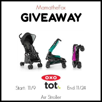 Enter the OXO Stroller Giveaway. Ends 11/24